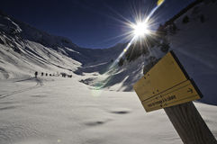 Inverno in Pirenei Fotografie Stock