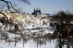 Inverno a Praga Fotografia Stock