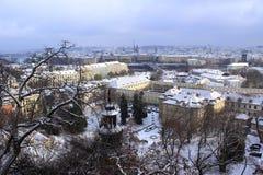 Inverno Praga Fotografia Stock Libera da Diritti