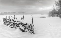 Inverno Prima neve fotografie stock