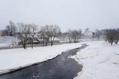 inverno Pskov Rússia Imagem de Stock