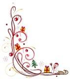 Inverno, pupazzo di neve, neve illustrazione di stock