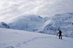 Inverno que Trekking em Fagaras Fotografia de Stock Royalty Free
