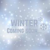 inverno que vem logo Fotos de Stock Royalty Free