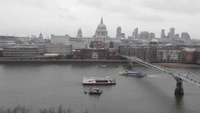 Inverno Regno Unito di Londra stock footage