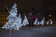 Inverno Riga in un 31 dicembre di 2014 Immagine Stock