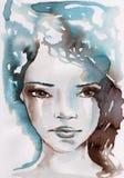 Inverno, ritratto freddo illustrazione vettoriale