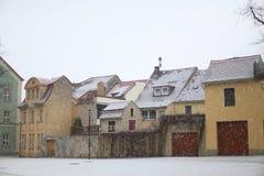 Inverno in Sassonia, Germania Fotografia Stock Libera da Diritti