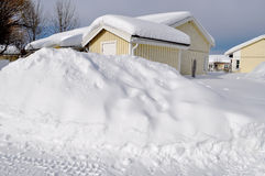 Inverno in Scandinavia Immagine Stock