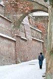 Inverno a Sibiu, Romania Fotografia Stock Libera da Diritti