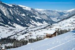 Inverno in simmental, Svizzera Fotografie Stock
