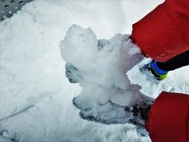inverno Ski Jump Center olímpico de Pyeong Chang 2018 fotos de stock