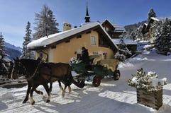 Inverno in st Moritz Fotografia Stock