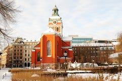 Inverno Stoccolma. Fotografia Stock