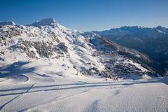 Inverno su Riederalp Fotografia Stock