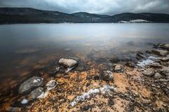 Inverno su Schluchsee fotografie stock libere da diritti