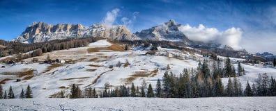 Inverno sul Dolomiti di Alta Badia Fotografia Stock