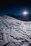 Inverno sul ghiacciaio Fotografia Stock