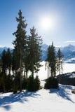 Inverno sul picco di Schmitten Fotografia Stock