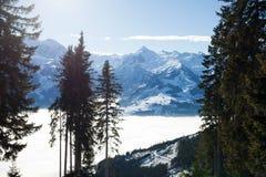 Inverno sul picco di Schmitten Fotografie Stock