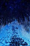 Inverno sulla via fotografie stock