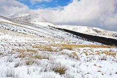 Inverno sulle montagne di Lingua gallese Fotografie Stock Libere da Diritti