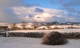 inverno Sun no distrito do lago Imagens de Stock Royalty Free