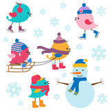 Inverno sveglio degli uccelli royalty illustrazione gratis