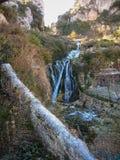 Inverno in Tobera, Burgos, Castiglia y Leon, Spagna Fotografia Stock Libera da Diritti