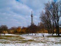 Inverno in un parc Immagini Stock Libere da Diritti