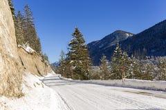 Inverno in valle Isartal Fotografia Stock Libera da Diritti