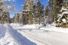 Inverno in valle Isartal Fotografia Stock