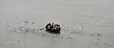 Inverno a Varanasi Fotografia Stock