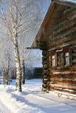 Inverno. Vecchio paese russo Fotografia Stock