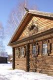 Inverno in vecchio villaggio Immagine Stock Libera da Diritti