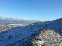 Inverno in Viseul de Jos, Maramures, Romania Fotografia Stock