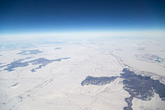 Inverno Vista dall'aeroplano Immagine Stock Libera da Diritti