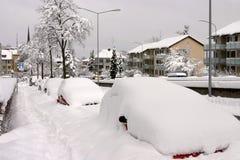 Inverno a Zurigo Fotografia Stock