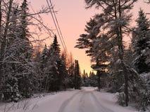 invernos de Maine Foto de Stock
