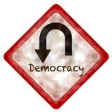 Inversão de marcha da democracia ilustração do vetor