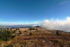 Inverse au-dessus de Kosice en hiver Image libre de droits