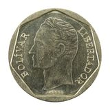 500 inverse de la pièce de monnaie 1998 de bolivar de Vénézuélien images stock
