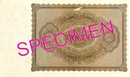 100000 inverse du billet de banque 1923 de mark de royaume images libres de droits
