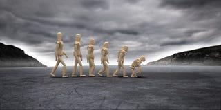 Inverse ewolucja ilustracja wektor