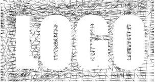 Inverse loga projekt, kontrasta srebra sieć, grafika Fotografia Stock