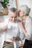 Inverse supérieure de couples ensemble Images libres de droits