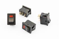 Inverseurs à rappel rouges avec l'élément LED Image libre de droits