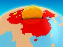 Inversión de China Imágenes de archivo libres de regalías