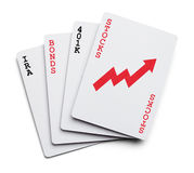 Inversión de tarjetas Imagen de archivo libre de regalías