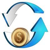 Inversión del balanceo del dinero Foto de archivo libre de regalías
